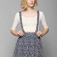 Coincidence & Chance Floral Suspender Skirt - Urban Outfitters