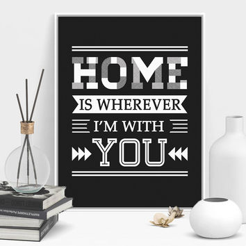 Modern Minimalist Family Motivational Typography Life Quotes A4 Art Print Poster Wall Picture Canvas Painting No Frame Home Deco