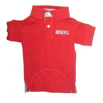 PEAPYW9 Ohio State Buckeyes Dog Polo Shirt