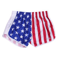 Tyler's  :: WOMENS :: APPAREL :: ATHLETIC SHORTS :: AM FLAG RACER-W
