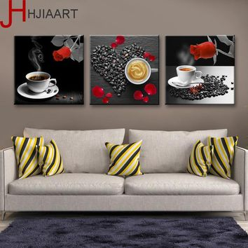 Canvas Painting Nordic Modern Love Sweet Coffee Wall Art Painting Canvas Poster Wall Pictures Dining Room Home Decor