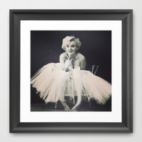 Marilyn Monroe Tutu Framed Art Print by LuxuryLivingNYC