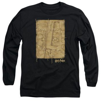 Harry Potter - Marauder's Map Interior Long Sleeve Adult 18/1 Officially Licensed Shirt