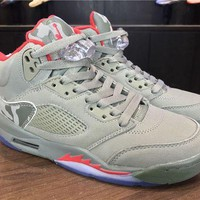 DCCKL8A Jacklish Girls Air Jordan 5 Gs Reflective Camo For Sale
