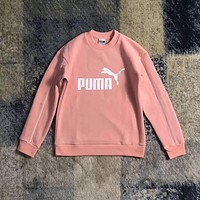 PUMA Fashion Print Pullover Tops Sweater Sweatshirts F