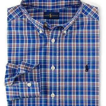 Ralph Lauren Childrenswear Boys 8-20 Plaid Button-Down Shirt