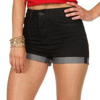 Sale-dark Denim High Waist Denim Shorts