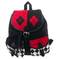 DC Comics Harley Quinn Knapsack Backpack 14 x 17in