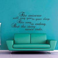 The Universe Will Sing You to Sleep - Doctor Who - Wall Decal