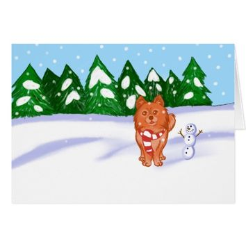 Snow Puppy Card