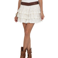 Ruffle Tiered Crochet Skirt | Shop Just Arrived at Wet Seal