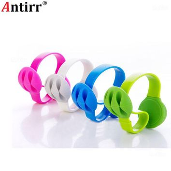 Cable Bobbin Winder protector Earphone Organizer USB Charger Wire Cord Desk Fixer Holder Data line Tidy Collation Clip-on clamp