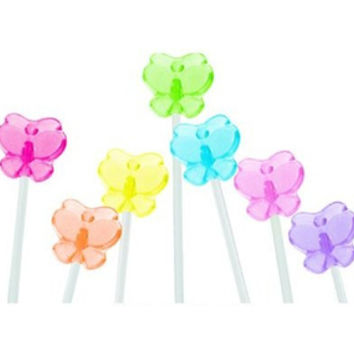 Twinkle Candy Butterfly Lollipops: 120-Piece Bag