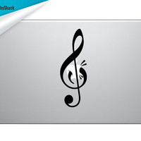 Mac Decal Music Note for 13 15 17 Mac Laptop and by GraphyShack