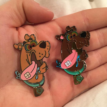 Scooby Doo Tripping Acid LSD Cartoon Network Double-backed Hatpin - 2 Different Styles to Choose From!