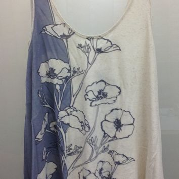 Lucky Brand Oversized Floral Tank Top