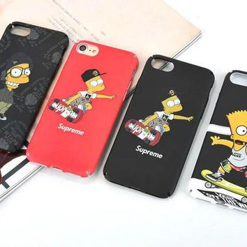 Supreme x the Simpson iPhone Case