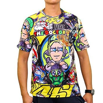 V. Rossi 46 Sticker Bomb Quick-dry Fan Art T-shirt - Beauty Ticks