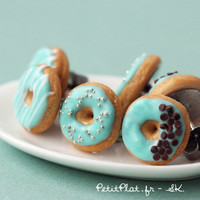Mint Donut Earrings - Food Jewelry - Donut Collection
