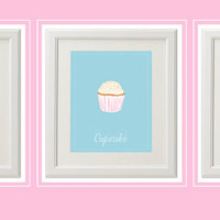 Candy 3 8x 10 Prints for a Sweet Nursery or Girls Room Instant Download, Cotton Candy,Cupcake,Gumdrop