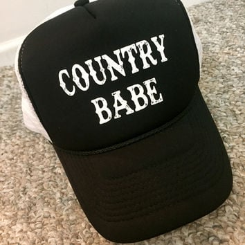 """COUNTRY BABE"" Trucker Hat"