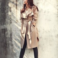 Belted Chic Trench Coat | SPREDFASHION