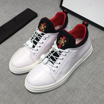 Gucci White Leather Sneakers - Best Deal Online