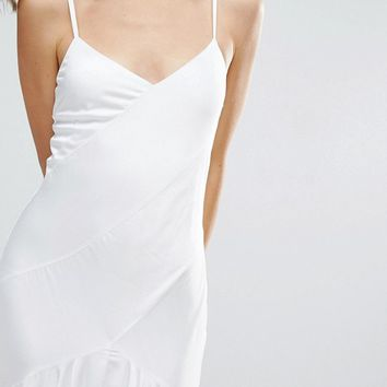 ASOS BRIDAL Cami Paneled Fishtail Maxi Dress at asos.com