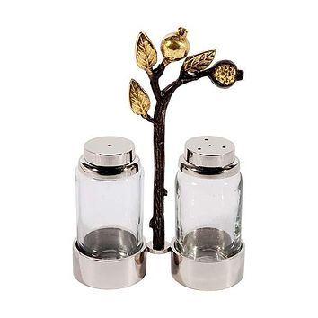 Salt & Pepper Shakers - Glass - Pomegranates
