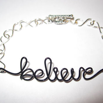Believe Infinity Bracelet by aLilJazzJewelry on Etsy