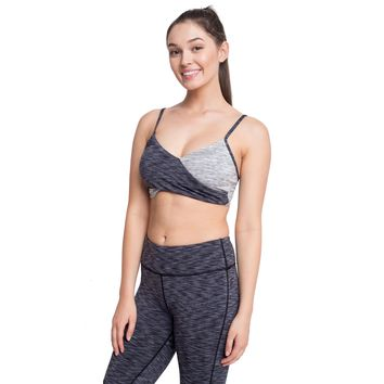 CONTRASTED COLOR SPORTS BRA