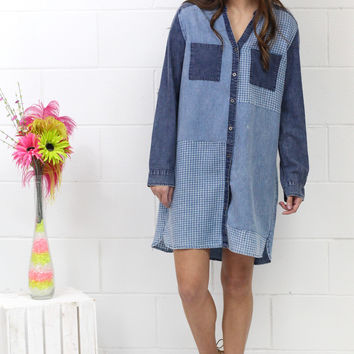 Mixed Up Chambray Shirt Dress {Denim}