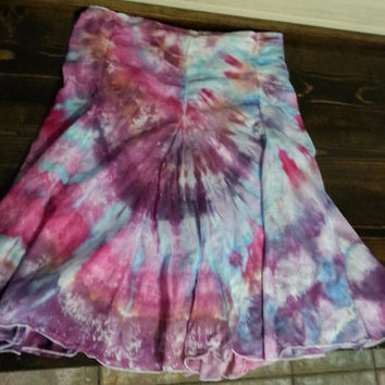 32129f15bf2 Tie Dye   Ice Dye Gored Skirt in Womens Small 100% Cotton wit.