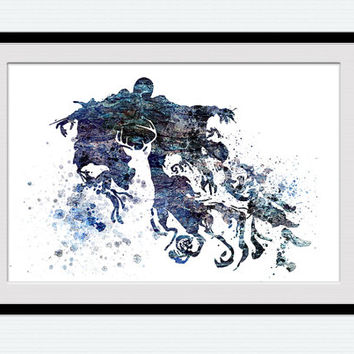 Harry Potter watercolor poster Dementor and stag colorful print Harry Potter art Home decoration Kids room wall art Wall hanging decor  W416