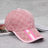 [ On Sale ] Perfect GUCCI Men Women Stripes Hornets Embroidery Sports Sun Hat Baseball Cap Hat