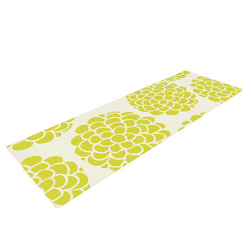 "Pom Graphic Design ""Grape Blossoms"" Yellow Circles Yoga Mat"