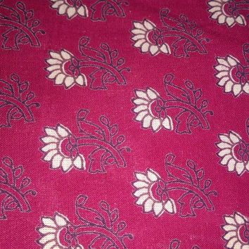 Indian Cotton fabric, Cotton Fabric, Printed Cotton, Hand Block Print Fabric, Cotton Fabric by the yard, Indian Fabric, Block Printed Fabric