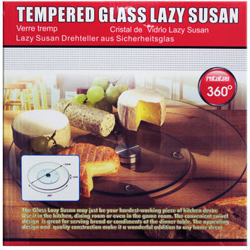 Tempered Glass Lazy Susan