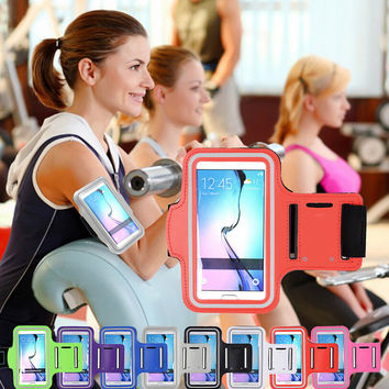 Bodybuilding Sports Waterproof Arm Belt creative case for iPhone 6 5 6S Plus Samsung Galaxy S6