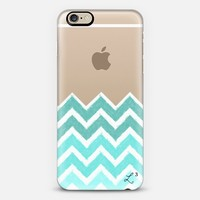 Chevron Canvas Tiffany Blue iPhone 6 case by Love Lunch Liftoff | Casetify
