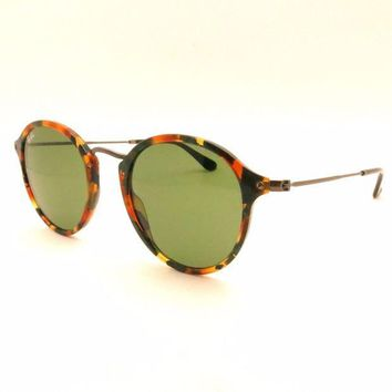 Kalete Ray Ban RB 2447 1159/4E Spotted Black Havana Green Authentic Sunglasses New