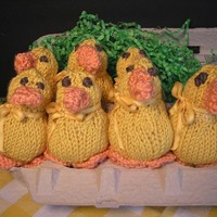 Hand Knitted PEEPS Yellow Chicks