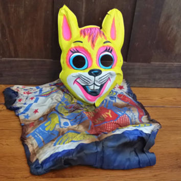 Vintage Hunny Bunny Rabbit Costume Masquerade Halloween Mask By Ben Cooper