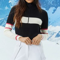Active Colorblock Zip-Front Pullover
