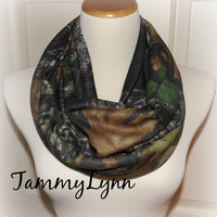 Mossy Oak Camo Jersey Knit Infinity Scarf Camouflage Fashion Infinity Scarf Hunting Duck Dynasty  Women's Accessories