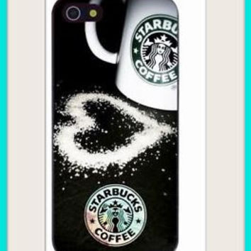 Starbucks coffee drink java Hip black white fitted Case for iphone 4 4S sale save