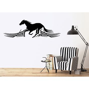 Large Vinyl Decal Wall Sticker Horse Gallop Jump Arts Decor (n1077)