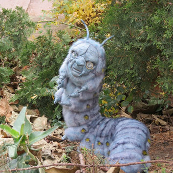 Caterpillar from Alice and Wonderland / Absolem - The orders will not be accepted temporary! Polymer Clay ART Doll Plush fantasy Tim Burton