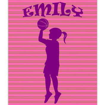 Girl Custom Silhouette I Print Wall Art
