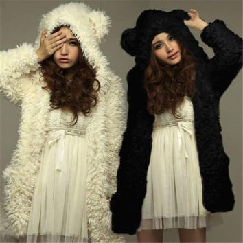 Bear Ear Coat Warm Fleece Jacket /Sweatshirt
